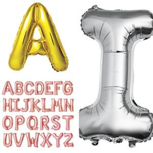 Líneas de alfabeto de lámina de 18 pulgadas A-Z Globos 2021 Año Nuevo Día de San Valentín Flotador Boda Boda Feliz Cumpleaños Decoración para niños Juguetes E122302