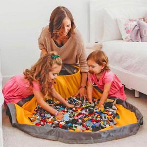 الأطفال المحمولة لعبة الرباط تلعب حصيرة ل LEGO TOYS SLIDEAWAY CLEAN-UP وتخزين حاوية حقيبة منظم الحقيبة