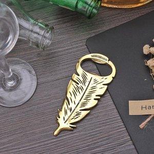 Apri bottiglia di birra in lega Decorazione di nozze favori stivali creativi Feather a forma di cucina domestica Easy BbyBtq