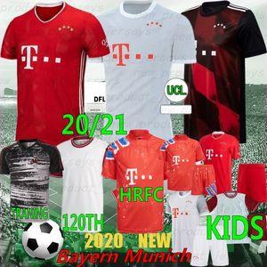 Thai 20/21 Münih Coutinho Sane Yeni Futbol Forması Lewandowski Muller Futbol Gömlek Erkekler Kids Kit 120th Yıldönümü Munche