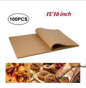 Silicon Oil Papier Antihaft-Dampfer Topf Pad Pergamentpapier Rectangle Grill Kuchen Pan Liners Backpapier 12x16inch