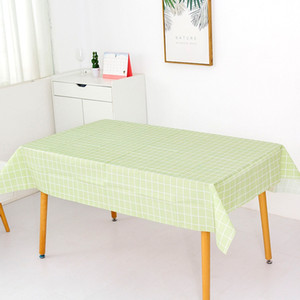Plastic Plaid Print Tablecloth Wedding Birthday Party Table Cover Rectangle Desk Cloth Wipe Covers Waterproof Table Cloth 6 Colors BC BH4216