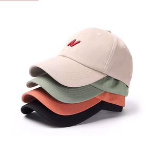 Embroidered letter N couple Baseball Cap Unisex Cotton Outdoor Sun Hat Adjustable Hip Hop Caps Classic Women Panel Sport Hat