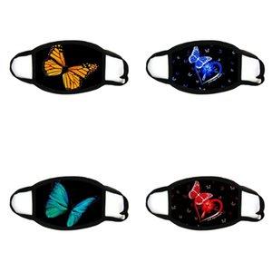 Personality Butterfly Imprimindo Máscara Lavável Respirável Face Máscara Ao Ar Livre Esporte à Prova de Vento-àproof Ciclismo Máscaras Masks Masks 24 O2