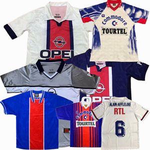 Retro 1990 91 92 93 94 95 96 97 98 99 2006 2007 jerseys Paris OKOCHA RAI WEAH GINOLA Wörns football SIMONE AVELAINE Retro LEROY maillot de football
