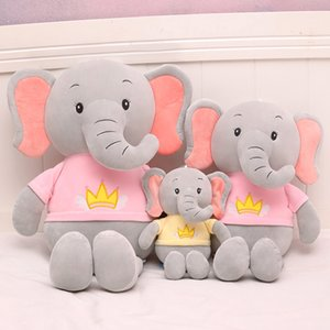 Creative Animal Plush Toys Cute Elephant Dolls Soft High Quality Stuffed Boys Girls Kids New Year Christmas Gifts Store Home Decor
