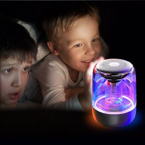 C7 trasparente Crystal LED Bluetooth Speaker Colorful Atmosfera Luce HIFI Bluetooth Stereo Speaker TWS con microfono