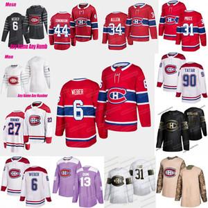 77 Josh Anderson Montreal Canadiens jersey Shea Weber Carey Price Jake Allen Brendan Gallagher Jonathan Drouin Jesperi Kotkaniemi