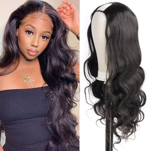 Gagaqueen Body Wave U Part Wig Human Hair 150 Density Glueless Human Hair Wigs Without Sewing Full Machine Made U Shaped Wig