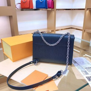 Designer de luxo Bolsas Bolsas Mulheres saco de ombro do couro genuíno com Metal ondinha da água CrossBodybag carta Handbag alta qualidade Bag 002