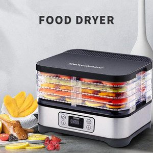 Household Dried Fruit Machine 220V 5 camadas Frutas dehydrators Legumes sincronismo Desidratação seco Carne Máquina Snacks Secador
