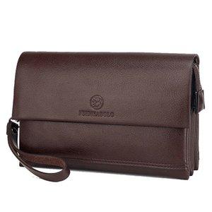 Monedero de hombre de negocios de cuero genuino para teléfono bolsa de embrague bolsas masculinos bolsa de mano casual dinero largo dinero mano bolsos