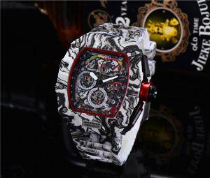 Men's luxury watch RM brand fashion personality barrel shape skeleton watch quartz stopwatch monterey hommes Relogio Feminino Montre Femme