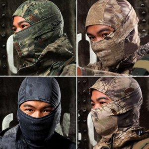 Cycling Caps & Masks Wholesale- 1PC Camouflage Army Motorcycle Cap Balaclava Hats Full Face Mask 17June151