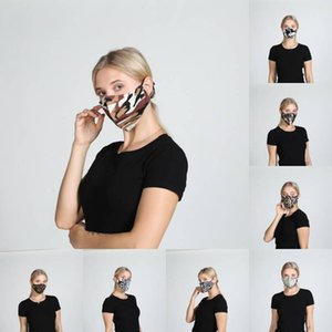 Fashion Leopard Print Face Masks Washable Dustproof Camo Cycling Mask Unisex Outdoor Sports Cotton Mouth Cover Kimter-L843FA