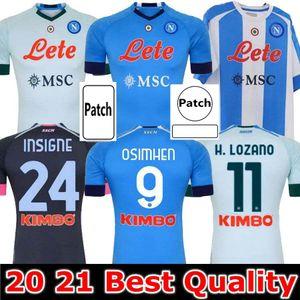 20 21 Napoli 축구 유니폼 나폴리 축구 셔츠 2020 2021 koulibaly osimhen maradona fútbol insigne maillots H. Lozano Mertens 남자 키트 키트