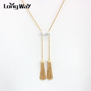 Longway Gold Color Pendentifs Pendants Collier Femmes Marque Punk Long Colliers Bijoux de mariage avec des vêtements SNE160190