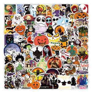 100Pcs Lot Wholesale Hotsale Cartoon Halloween Stickers Waterproof No-duplicate sticker For Skateboard Helmet Laptop Bottle Car Decals