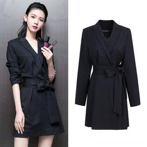 Printemps 2019 printemps femmes les vêtements de femmes Chen Yao nouvelle robe étoile Chen Yao même dentelle noire en robe costume pour les femmes 2206 Ayqy4