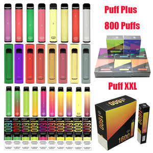 Barra Puff Bar Plus XXL POSH PLUS XL MAX PRO XTIA Disable Vape Pen POB Puff XXL Bar 800 1600 Buffs Kit de Cigarro Eletrônico