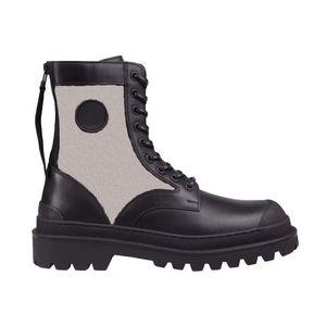 Мужчины женщины наклонные лодыжки Martin Boots Rois Boots Nylon Derby Explorer Calfskin Тренажеры высокого качества Черная кожаная обувь мода на открытом воздухе
