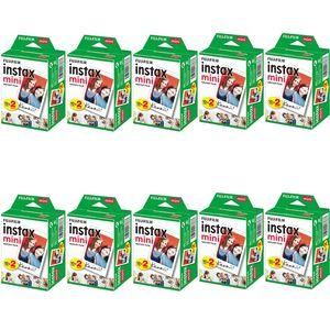 Fujifilm instax mini Film 10 20 40 60 80 100 200 300 Sheets Fuji 11 9 8 films white Edge films for instant mini Fashion Hot Sale