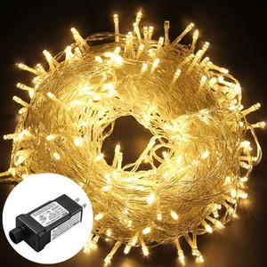 10 M 20 M 30 M 50 M 100 M 24 V Güvenli Voltaj LED Dize Işıkları Açık Su Geçirmez Noel Ağaçları Noel Parti Düğün Dekorasyon Garland