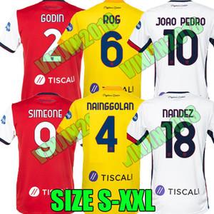 20 21 21 Cagliari Calcio Soccer Trackss Nainggolan Godin Simeone Joao PEDRO PAVOLETTI 2020 2021 Nandez Rog Maglie Da футбольные рубашки Таиланд