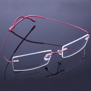 2017 Retail Fashion Rimless Glasses Frames Fashion Memory Titanium Eyeglasses Frames Prescription Optical Frames FRx2#