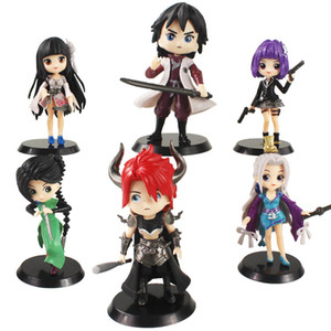 Anime Scissor Seven Cartoon Character Figures Killer Thirteen With Sword Weapon Cute Beauty Model Toys Gift For Kids