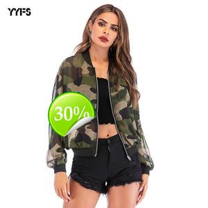 womens designer Sun protection clothing casual holiday camouflage versatile jacket femaleCXA1