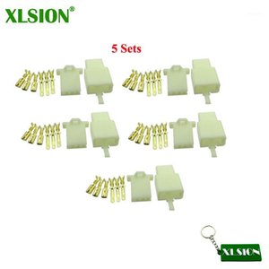 XLSION 3 Pins Electrical Wire Connector Terminal Harness Plug Socket For Go Kart ATV Scooter Moped Pit Pocket Mini Bike1
