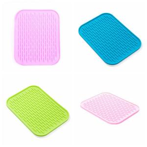 Silicone Placemats Tabla de mesa Horno Aislamiento de calor Almohadilla Horneado Horneado Liner Bowl Pad Antideslizante Impermeable Poster Plato Mats DHD2671
