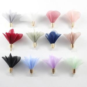 10pcs Multicolore mini fleurs Tassels Fringe rouge Noir Blanc Gris Accessoires de bricolage Boucles d'oreilles Colliers Colliers Constatations de bijoux Pendants H Jllhfk
