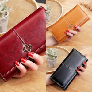 Joi Top-Qualität mit echten Multicolor Leathercoin-Geldbörse Lange Anhänger Wallet Womens Luxus Wallet Karteninhaber Klassiker