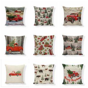 Наволочка Xmas Red Printing подушка для печати наволочки наволочки рождественская елка бросить подушку для подушки диван диван подушка подушка рождественские украшения HWC3013