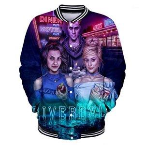Riverdale 3D Stampato Giacche da baseball Stampato Moda Donna / Uomo Vendita calda 2020 Giacca a maniche lunghe Casual Streetwear Streetwear