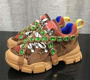 FlashTrek zapatillas con cristales desmontables, Cuero suela de montaña botas y zapatos casuales de las mujeres netas zapatos para caminar Multicolor G1