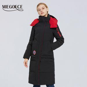 Escudo Parkas ropa con MIEGOFCE Diseño Invierno 2020 nuevo algodón chaqueta larga de las mujeres del Ejército abrigo NZW2
