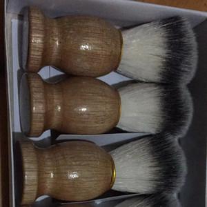 Barber Hair Shaving Beard Brushes Natural Wood Handle Beard Brush Gift Portable Barber Tool Men New Beauty Tool Mens Supply VTKY2201