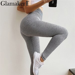 Glamaker knitted solid color long leggings female sexy high waist fitness sports pants summer joggers women sweatpants plus size Q1119