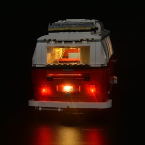 Updated LED light for l 10220 and 21001 Creator Expert T1 Camper Van Blocks Bricks Toys Set Q1126