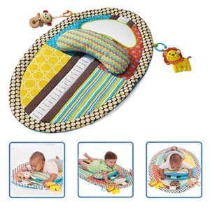 Tummy Time Activity Play Mat Ergonomic Plush Pillow Baby Mirror Squishy Toys Changing Pad Height Measure Chart - Easy Q1120