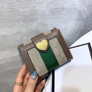 Fashion Short Portafoglio 21 Nuovo PVC Designer Designer Classic Letter Retro Card Custodia Trend Trend Uomini e donne Borsa in vendita calda WF2012161