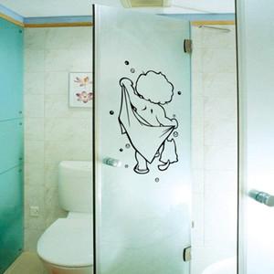 Shower gel glass door stickers kids shower wall stickers cute waterproof removable bathroom for baby