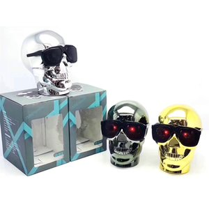 2021 M29Wireless Bluetooth Smiley skull Head Speaker Bass Stereo Music Player Dazzle USB Portable Wireless Bluetooth Speaker gift