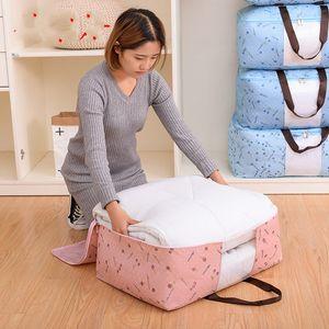 Quilt Non Woven Storage Bag Foldable Clothes Blanket Quilt Sweater Organizer M L XL Quilt Bag Holder 87 G2