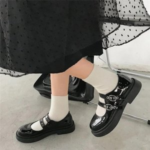 cute shoes korean vintage shoes women students British women's Cosplay JK Uniform Women Flats Platform Shoes spring 2020 #1N30