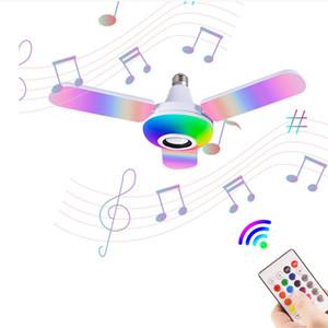 Lâmpada de LED inteligente E27 RGB com alto-falante Bluetooth 40W 50W Lâmpada Lâmpada Lâmpada Ajustável Luz de Música Luz Sem Fio Lâmpada Dobrável Luz