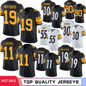 Juju Smith-Schuster Football Jerseys 11 Chase Claypool Men Jersey T.J. Watt Fitzpatrick Devin Bush Troy Roethlisberger Polamalu 2021 caliente